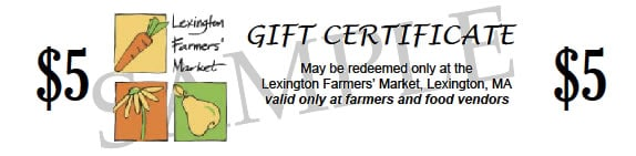 gift certificate sample